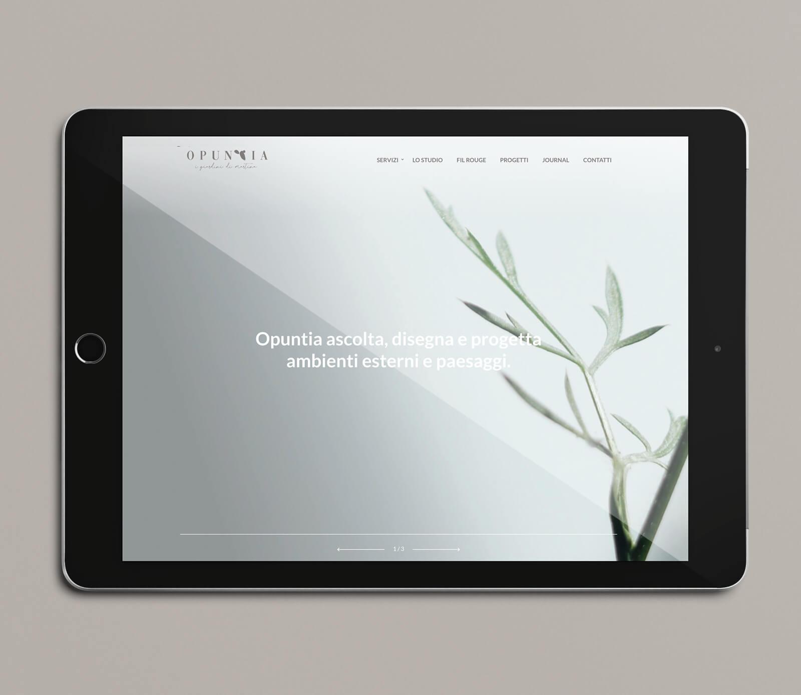 progetto per sito web Opuntia i giardini di Martina, Diadestudio, Arco Tn